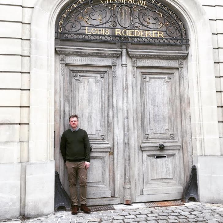 TheGrapeWizard at the doors of Louis Roederer
